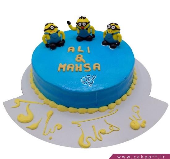 سفارش کیک تولد مینیون - کیک سه مینیون | کیک آف