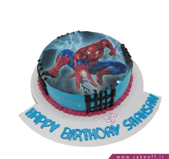 سفارش کیک تولد پسرانه - کیک مرد عنکبوتی ۱   کیک آف