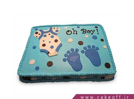 کیک تولد نوزاد - کیک جشن اولین قدم - کیک زادنو | کیک آف