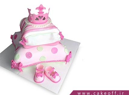 کیک تولد نوزاد - کیک اولین قدم - کیک قدم نو | کیک آف