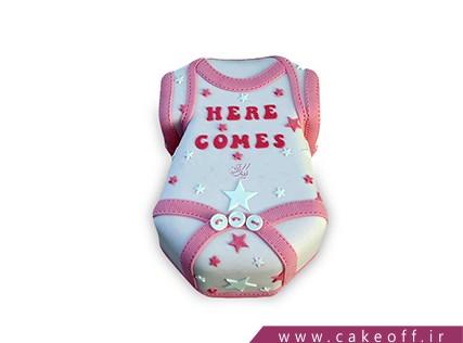 کیک تولد نوزاد - کیک لباس نوزاد 1  | کیک آف