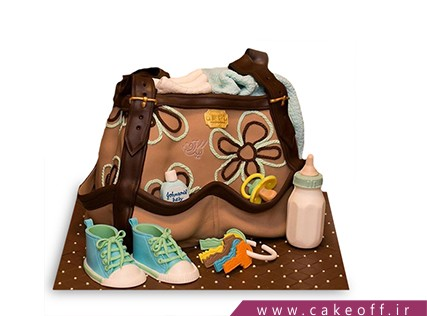 کیک تولد نوزاد - کیک جشن سیسمونی - کیک وسایل سیسمونی 2 | کیک آف