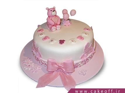 کیک تولد نوزاد - کیک جشن اولین قدم - کیک گام های کوچولو | کیک آف