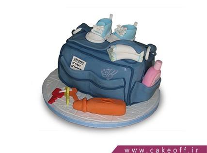 کیک تولد نوزاد - کیک جشن اولین قدم - کیک کفش های کوچک | کیک آف