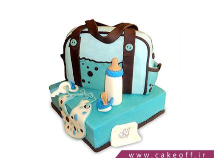 کیک تولد نوزاد - کیک جشن سیسمونی - کیک وسایل سیسمونی 3 | کیک آف