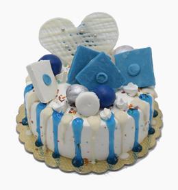 کیک چکه آبی