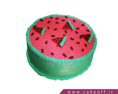 کیک یلدا - کیک هندونه ی شب چله | کیک آف