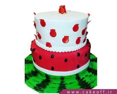 کیک شب چله - کیک هندونه و انار | کیک آف