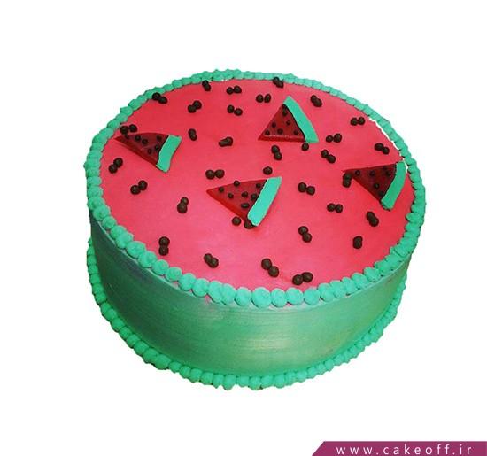 کیک یلدا - کیک هندونه ی شب چله   کیک آف