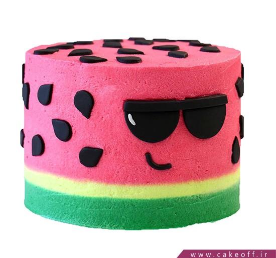 کیک هندوانه شب یلدا - کیک هندوانه جنتلمن | کیک آف