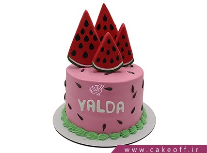 کیک شب یلدا - کیک یلدای مهربانی | کیک آف