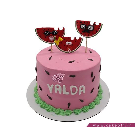 کیک شب یلدا - کیک یلدای خانواده آقای گرفتار | کیک آف