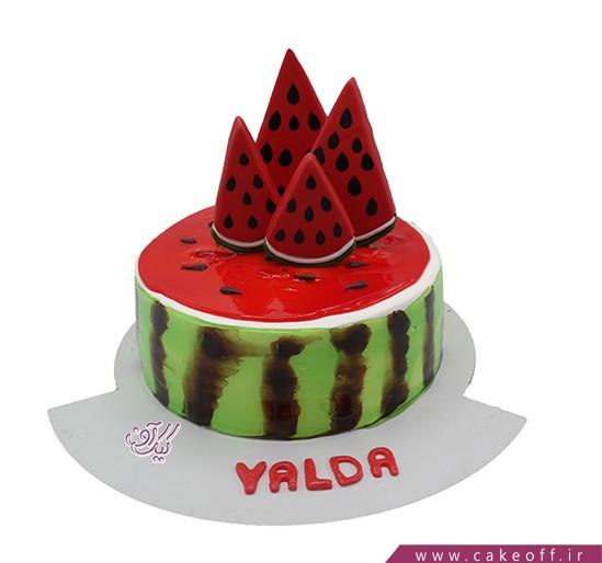 کیک یلدا - کیک هندونه ها به صف | کیک آف