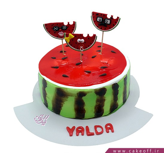 کیک شب چله - کیک یلدا در کنار خانواده | کیک آف