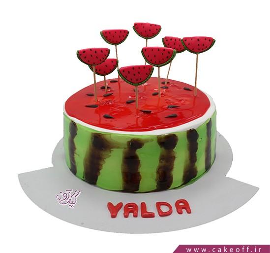کیک هندونه ای - کیک هندوانه باران | کیک آف