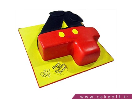 کیک تولد اعداد - کیک عدد چهار میکی | کیک آف