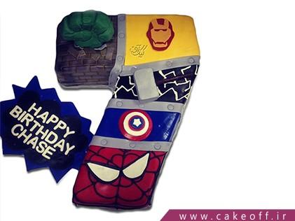 کیک تولد اعداد - کیک عدد هفت ابر قهرمانان | کیک آف