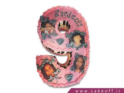 سفارش کیک اعداد - کیک عدد نه دخترانه | کیک آف
