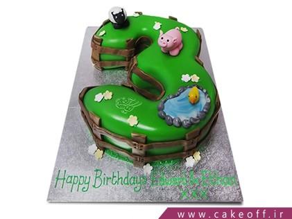 کیک تولد اعداد - کیک عدد سه خوک و برکه | کیک آف