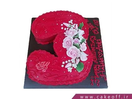 سفارش کیک اعداد - کیک عدد سه گل صورتی | کیک آف