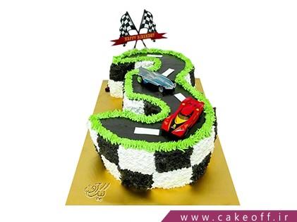 کیک تولد بچه گانه - کیک عدد سه مسابقه ای | کیک آف