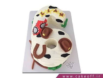 کیک تولد اعداد - کیک عدد شش لوک خوش شانس | کیک آف