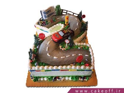 کیک تولد بچه گانه عدد دو ماشین مسابقه | کیک آف