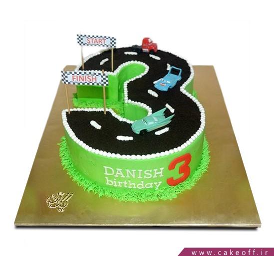 کیک تود بچه گانه - عدد سه جاده ای  | کیک آف