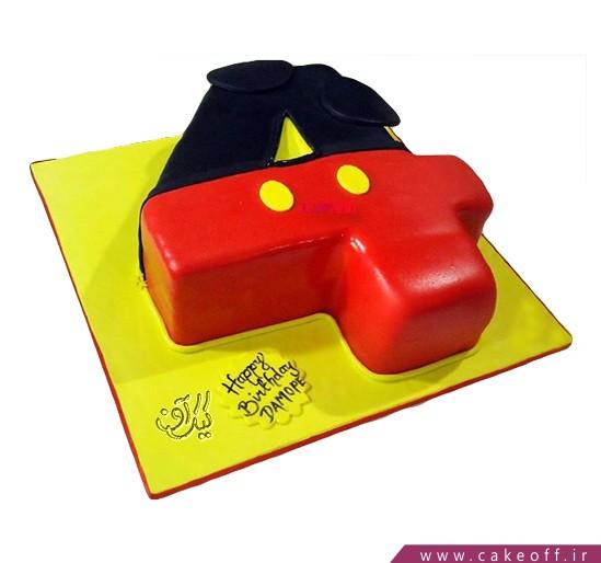 کیک عدد چهار میکی