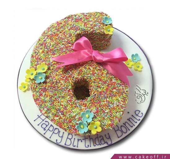 سفارش کیک اعداد - کیک عدد شش ترافلی | کیک آف
