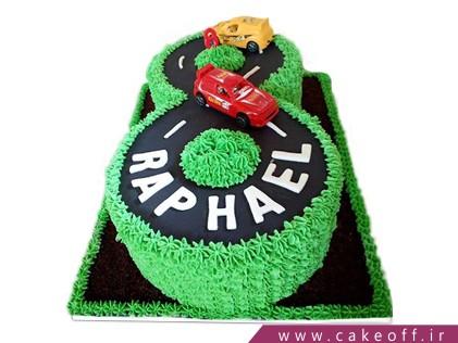 کیک تولد بچه گانه عدد هشت جاده سرسبز | کیک آف