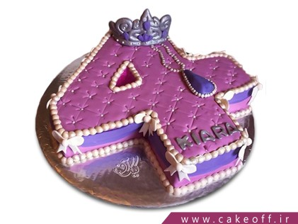 سفارش کیک تولد - کیک عدد چهار پرپل | کیک آف