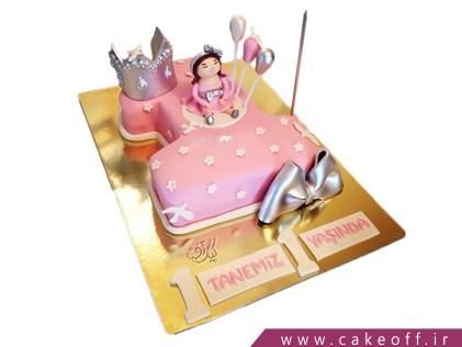 کیک تولد بچه گانه عدد یک دنیای صورتی | کیک آف