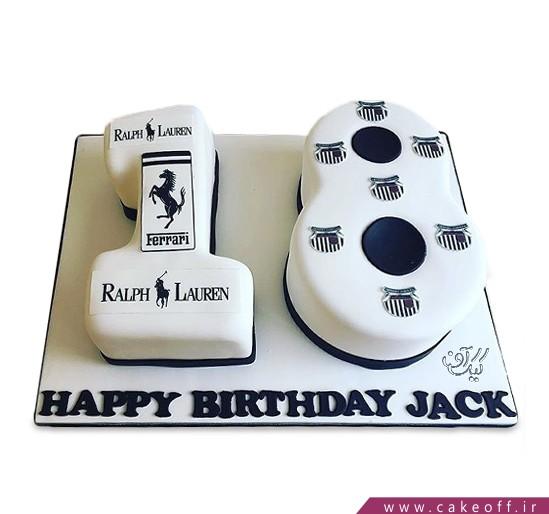 کیک تولد عدد هجده راف لورن | کیک آف