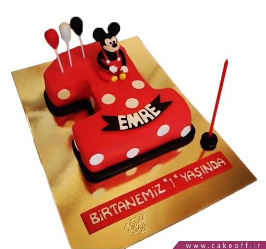 کیک تولد بچه گانه عدد یک میکی | کیک آف
