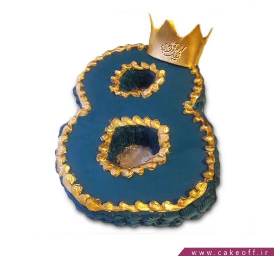 کیک سالگرد ازدواج - کیک عدد هشت تاجدار | کیک آف