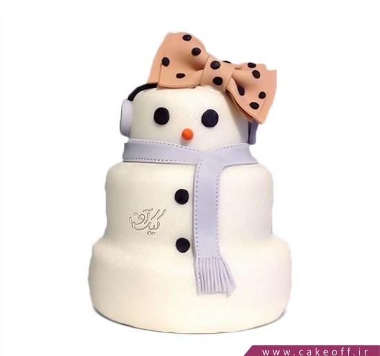 کیک آدم برفی 8