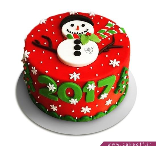 کیک آدم برفی 10