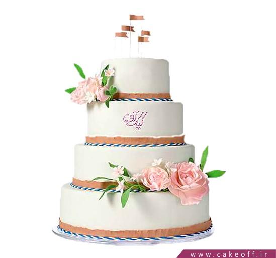 مدل کیک عروسی - کیک عروسی پرچم عشق بالاست | کیک آف