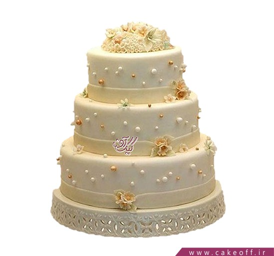 مدل کیک عروسی - کیک عروسی گلاب | کیک آف
