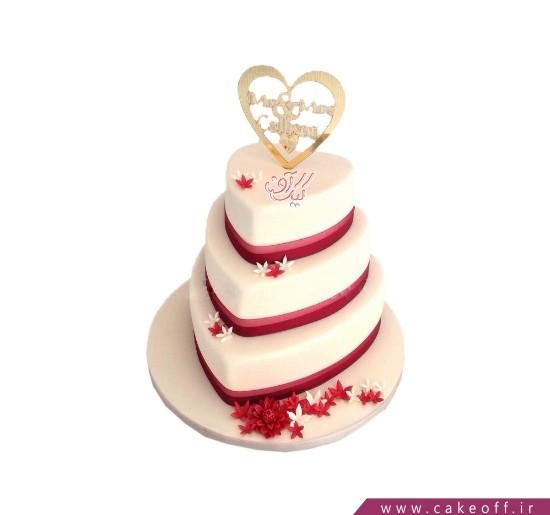 مدل کیک عروسی - کیک عروسی عاشقانه با من باش | کیک آف