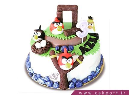 کیک تولد بچه گانه - کیک انگری بردز 25 | کیک آف