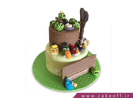 کیک تولد بچه گانه - کیک انگری بردز 24 | کیک آف