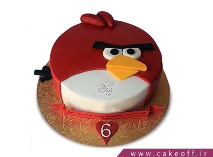 کیک تولد بچه گانه - کیک انگری بردز 23 | کیک آف