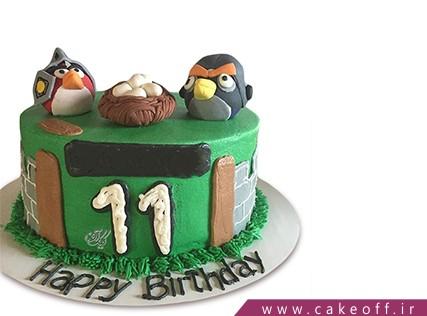 کیک تولد بچه گانه - کیک انگری بردز 22 | کیک آف