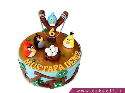 کیک تولد بچه گانه - کیک انگری بردز 21 | کیک آف