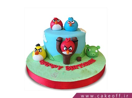 کیک تولد بچه گانه - کیک انگری بردز 20 | کیک آف