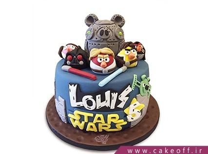 کیک تولد بچه گانه - کیک انگری بردز 19 | کیک آف