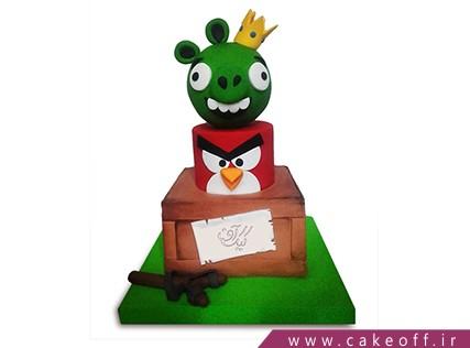 کیک تولد بچه گانه - کیک انگری بردز 18 | کیک آف