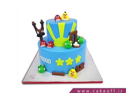 کیک تولد بچه گانه - کیک انگری بردز 28 | کیک آف